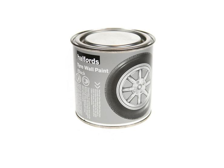 Halfords Tyre Wall Paint Black 250ml