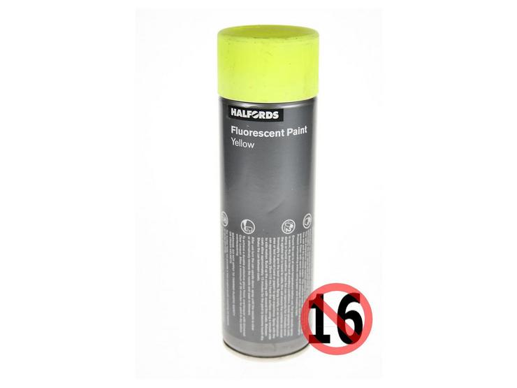 Halfords Fluorescent Yellow Paint 300ml