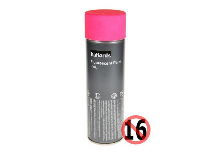 Halfords Fluorescent Paint Pink 300ml