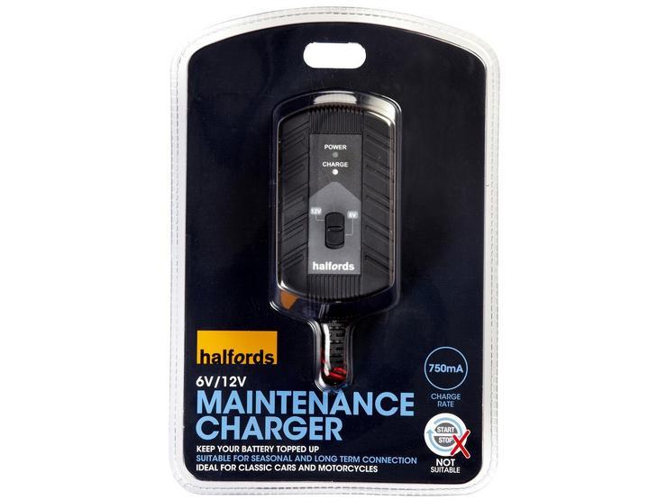 Halfords 6V/12V Maintenance Charger