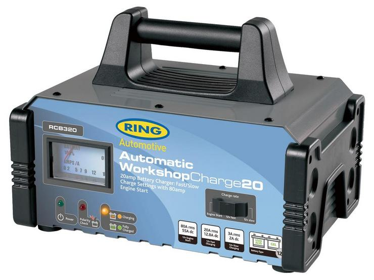 Ring RCB320 20A Workshop Battery Charger – Vehicles up to 12L