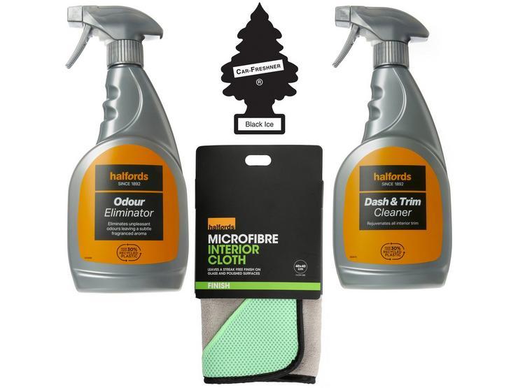Halfords Interior Cleaning and Odour Eliminator Bundle