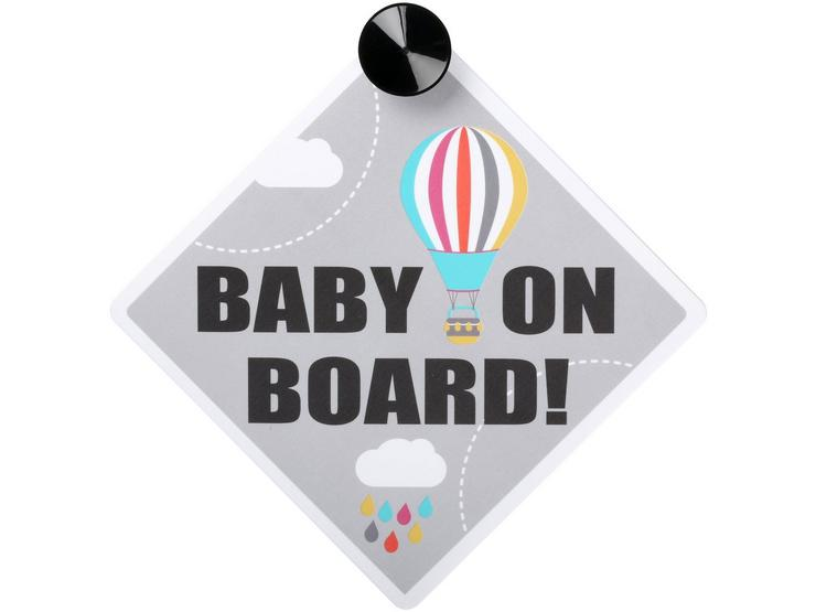 Head in the Cloud Baby on Board Sign