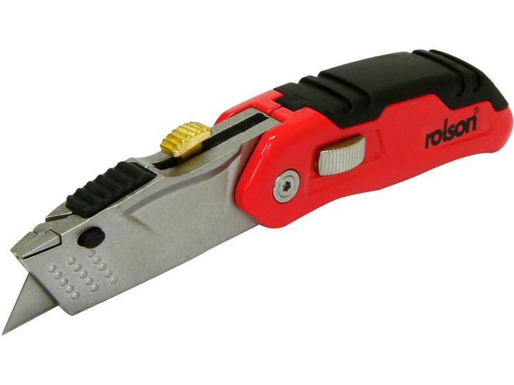 Rolson Alum Folding Retractable Knife