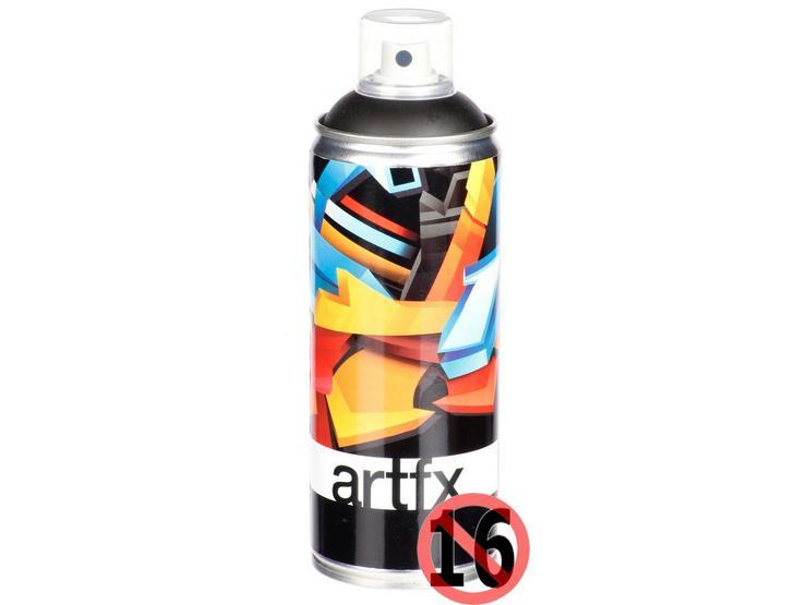 Halfords ArtFX Black Paint 400ml