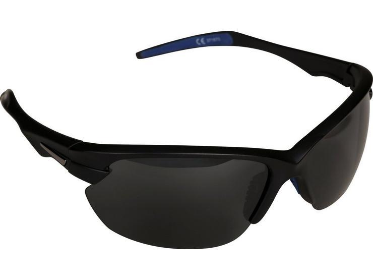 Halfords Half Frame Polarised Sunglasses - Black