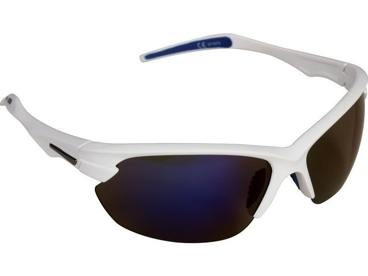 Halfords Half Frame Polarised Sunglasses - White and Blue