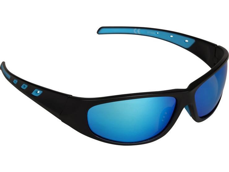 Halfords Full Frame Polarised Sunglasses - Black and Blue