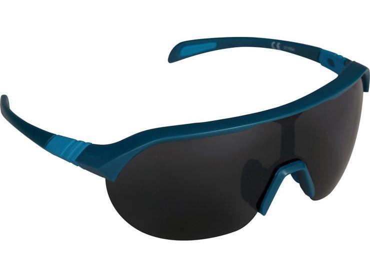 Halfords Half Frame Polarised Sunglasses - Black and Blue