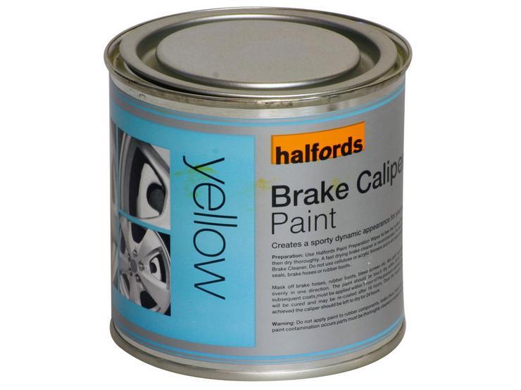 Halfords Brake Caliper Paint Yellow 250ml