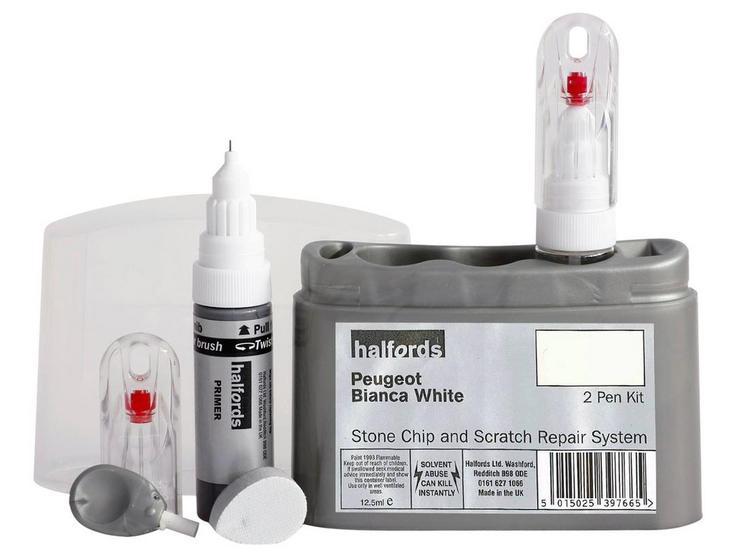 Halfords Peugeot Bianca White Scratch & Chip Repair Kit