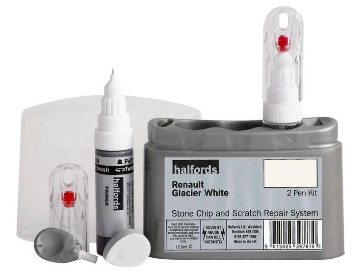 Halfords Renault Glacier White Scratch & Chip Repair Kit