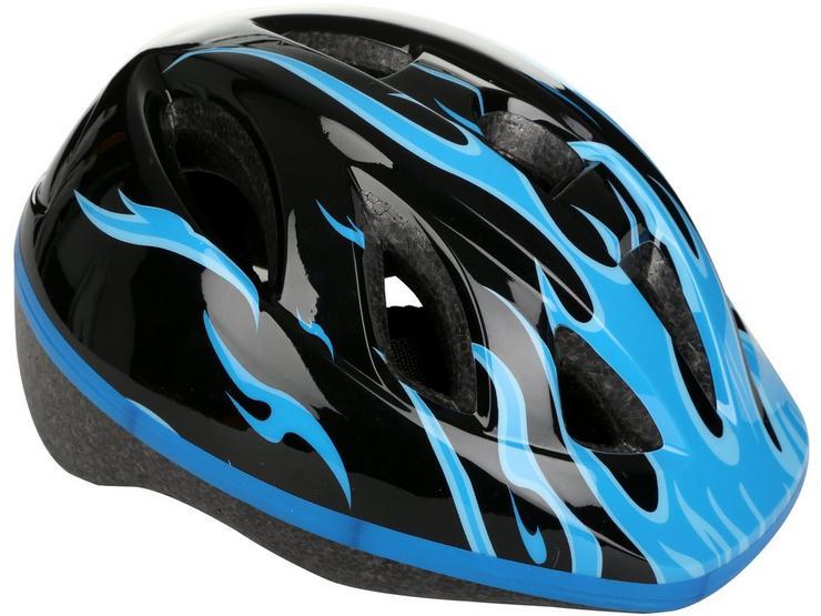 Blue Flames Kids Helmet (48-52cm)