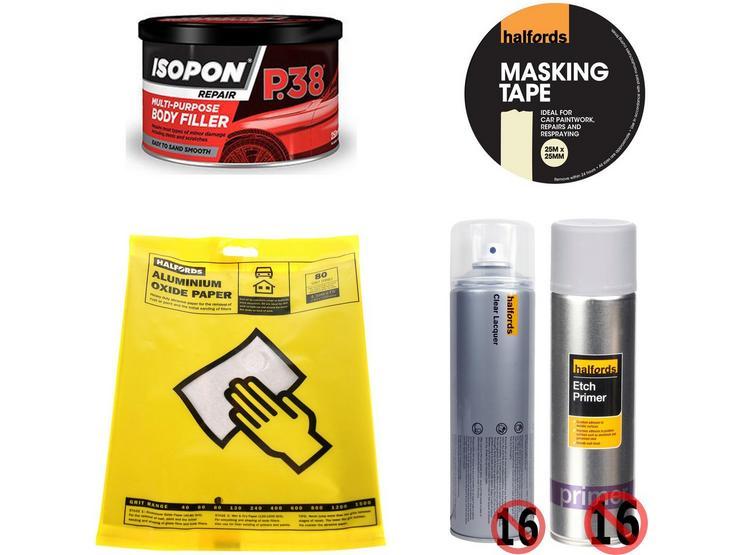 Body Repair Prep Abrasive Bundle With Aluminium Oxide Paper 80 Grit
