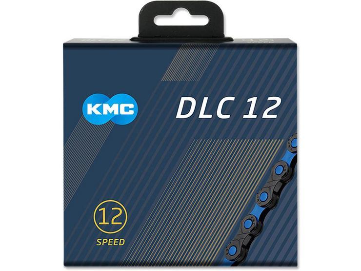 KMC DLC X12-SL Bike Chain, Black/Blue 126L