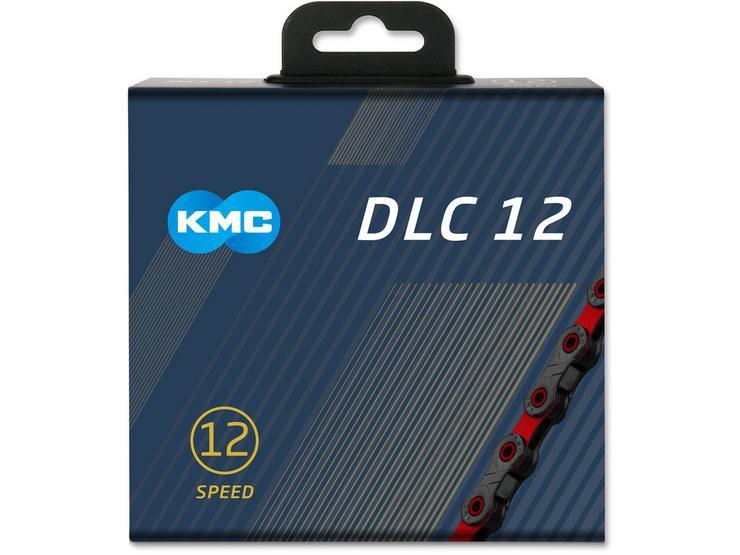KMC DLC X12-SL Bike Chain, Black/Red 126L