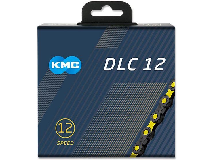 KMC DLC X12-SL Bike Chain, Black/Yellow 126L
