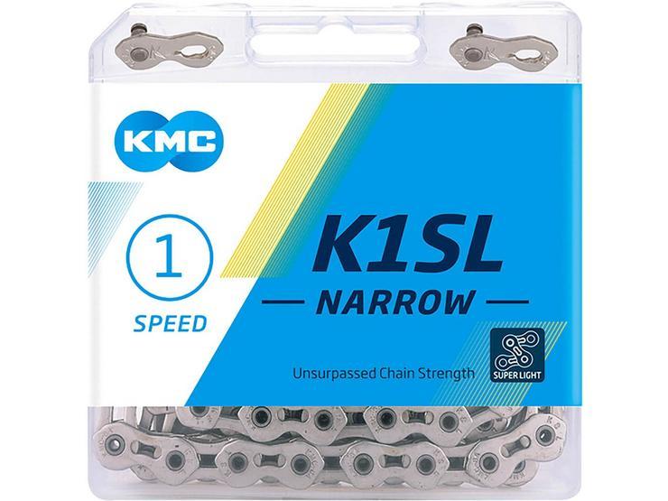 KMC K1SL Narrow Bike Chain, Silver 100L