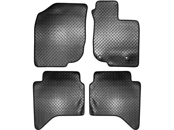 Halfords Toyota Hi-Lux Double Cab - Rubber Van Mat 2 Clips (SS7035)