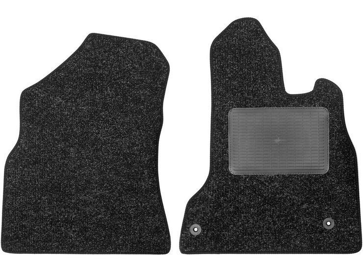 Halfords Peugeot Partner - Heavy Duty Carpet Van Mat 2 Clips (SS3426)