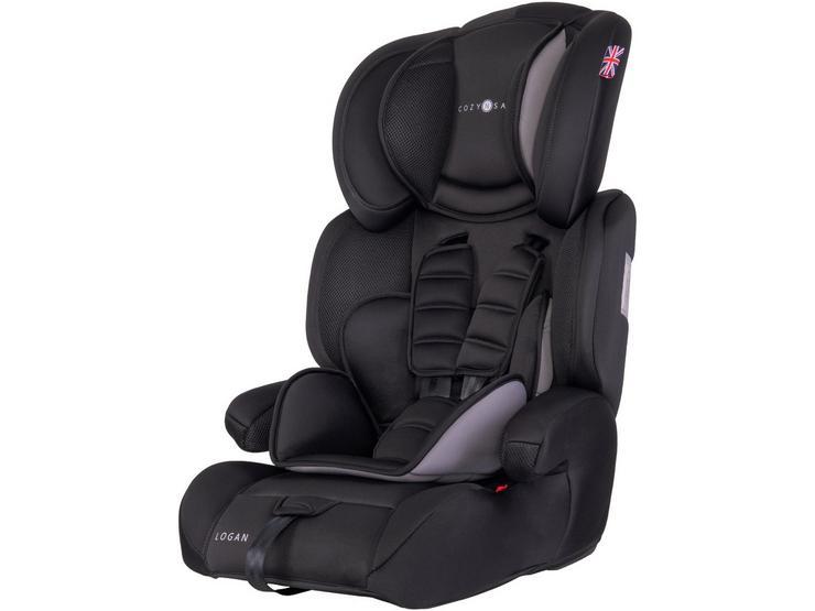 Cozy N Safe Logan Group 1/2/3 Child Car Seat – Black/Grey