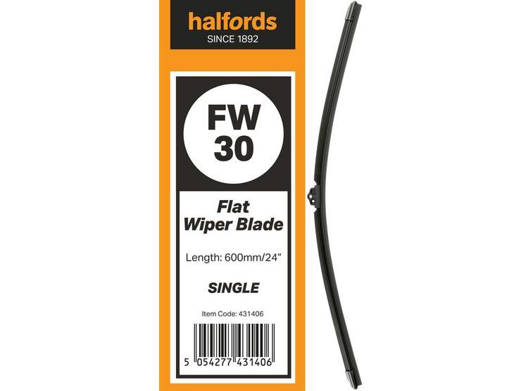 Halfords Flat Wiper Blade Single FW30