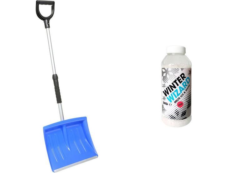 Snow Shovel and De-Icing Salt Bundle