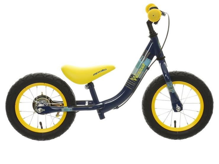 "Apollo Wizzer Balance Bike Blue - 12"""