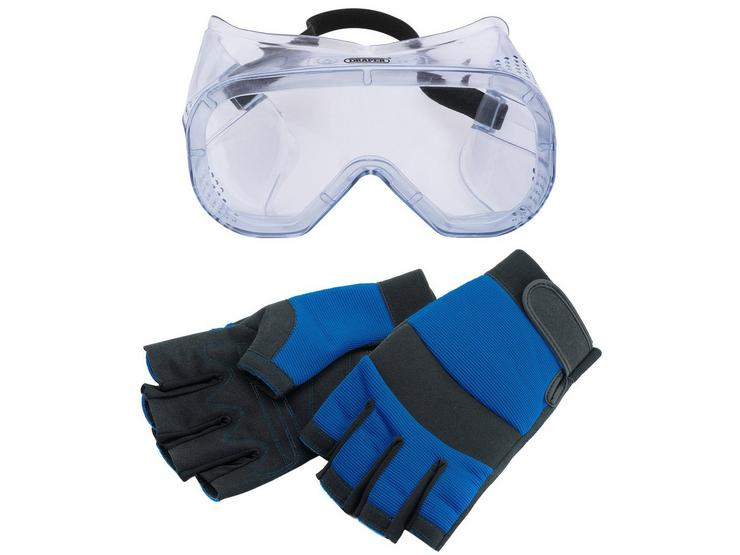Fingerless Gloves and Goggles Workwear Bundle