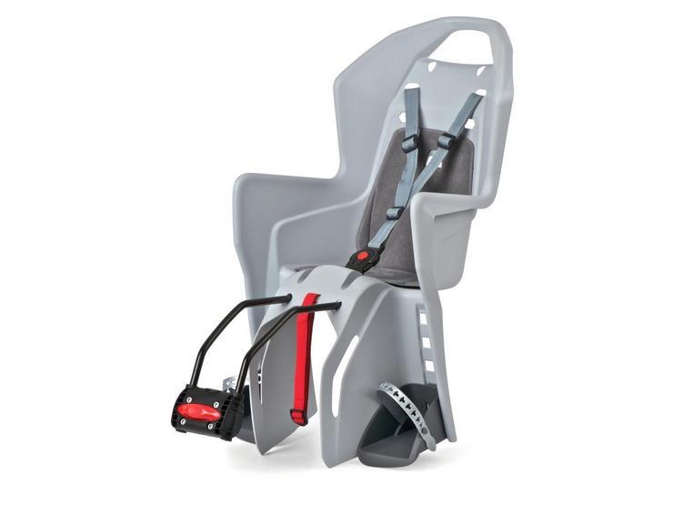 Polisport Koolah Rear Child Bike Seat - Light Grey/Grey