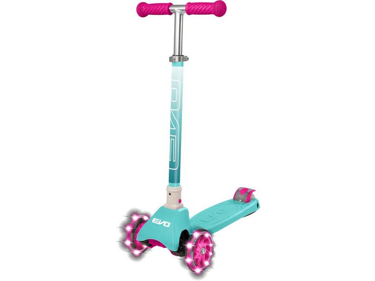 EVO+ Cruiser Kids Scooter with LED Wheels - Turquoise