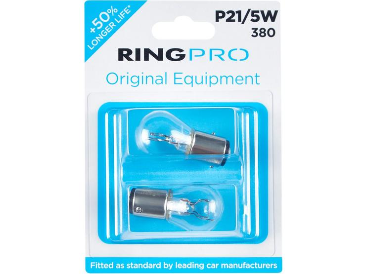 Ring Pro 380 P21/5W Car Bulb Twin Pack