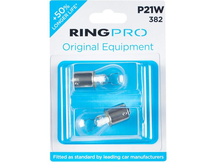 Ring Pro 382 P21W Car Bulb Twin Pack