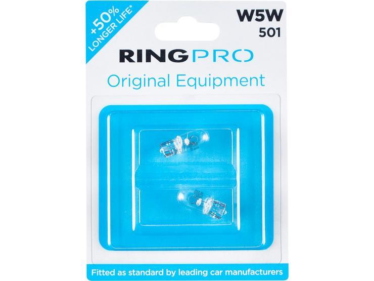 Ring Pro 501 W5W Car Bulb Twin Pack