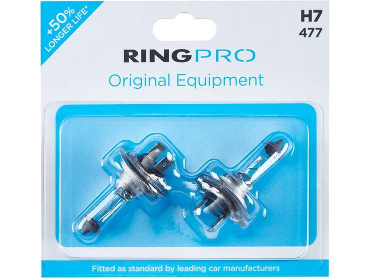 Ring Pro H7 477 Car Headlight Bulb Twin Pack