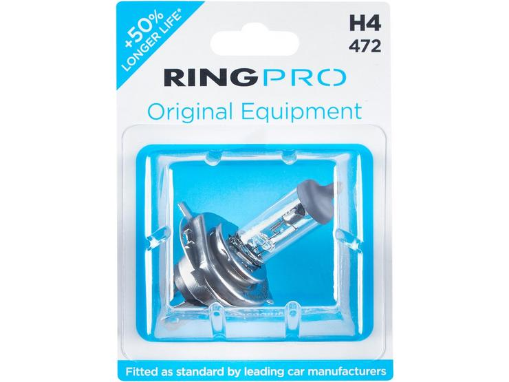 Ring Pro H4 472 Car Headlight Bulb Single Pack