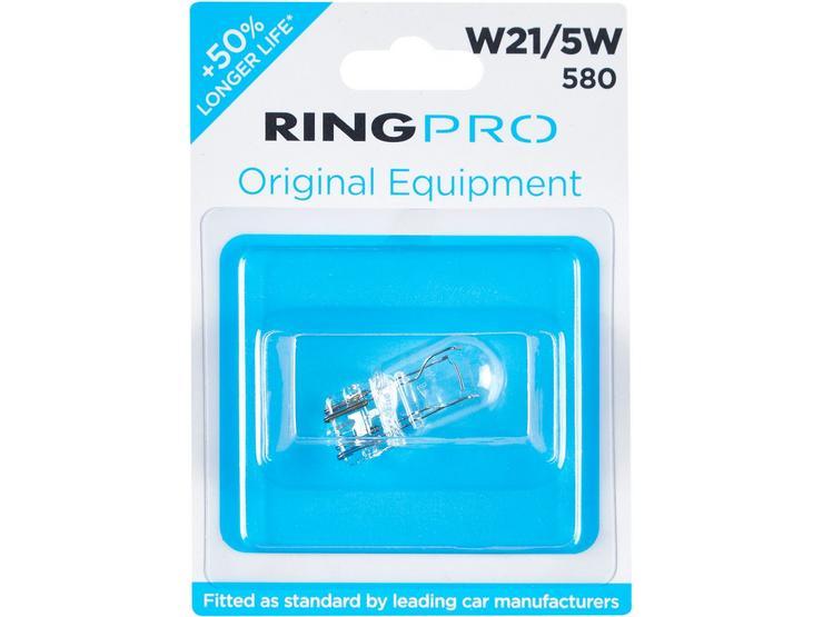 Ring Pro 580 W21/5W Car Bulb Single Pack