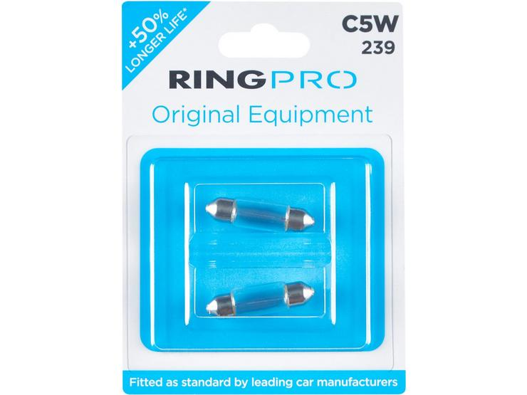 Ring Pro 239 C5W Car Bulb Twin Pack