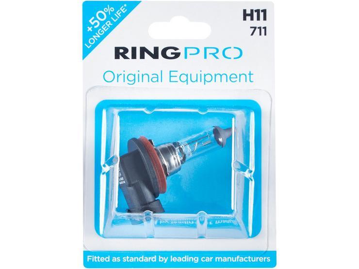 Ring Pro H11 711 Car Headlight Bulb Single Pack