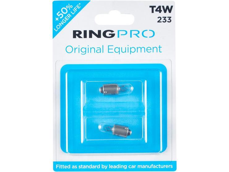Ring Pro 233 T4W Car Bulb Twin Pack