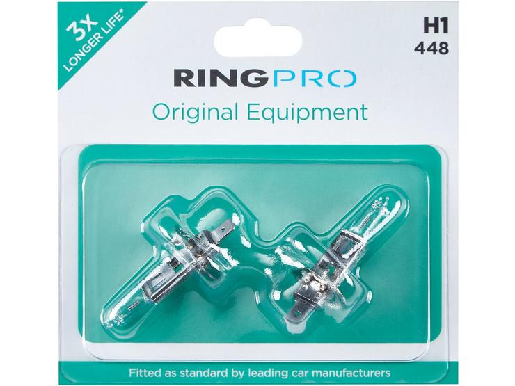 Ring Pro H1 448 Triple Life Car Headlight Bulb Twin Pack