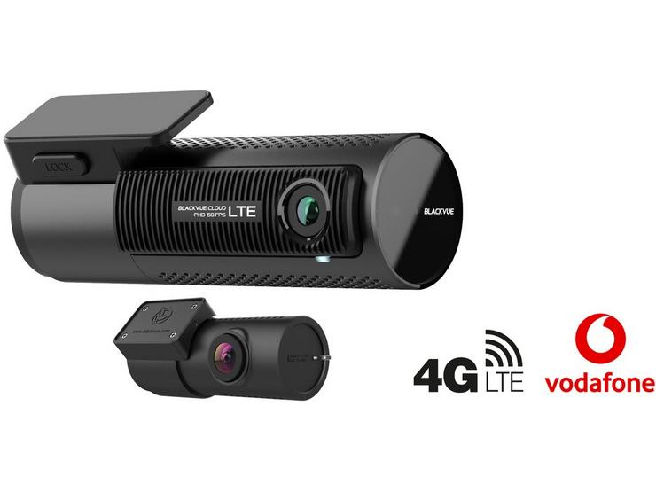 BlackVue DR750-2CH LTE 4G Cloud-Connected Front/Rear Dash Cam with 32GB microSD Card & Vodafone V-Sim