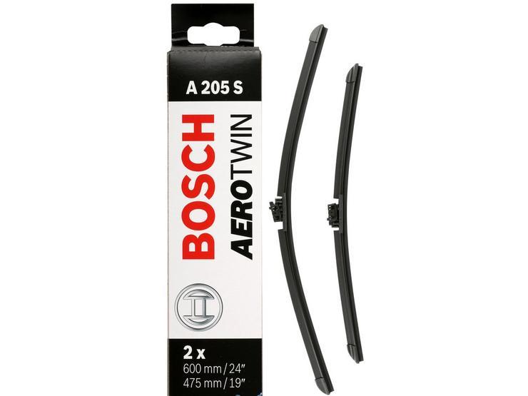 Bosch A205S Wiper Blades - Front Pair
