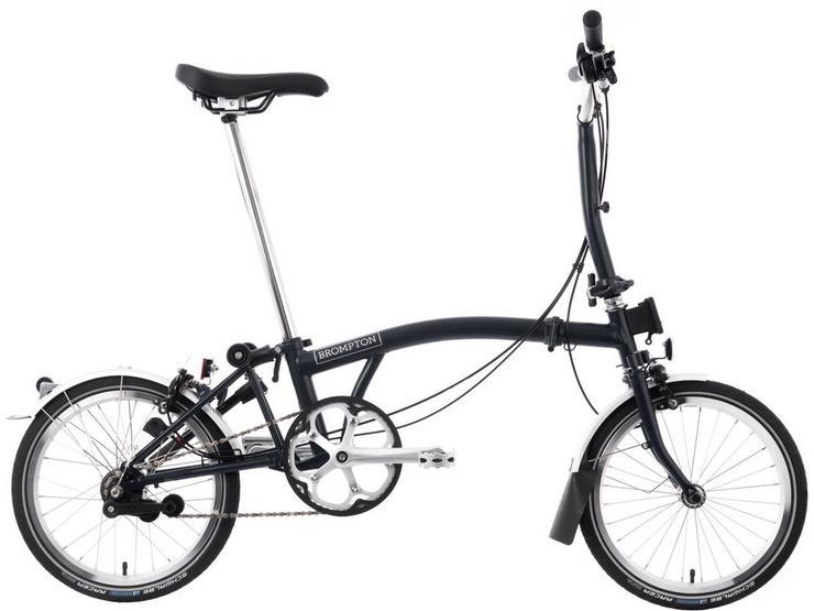 "Brompton M3L Folding Bike - Tempest Blue - 16"" Wheel"