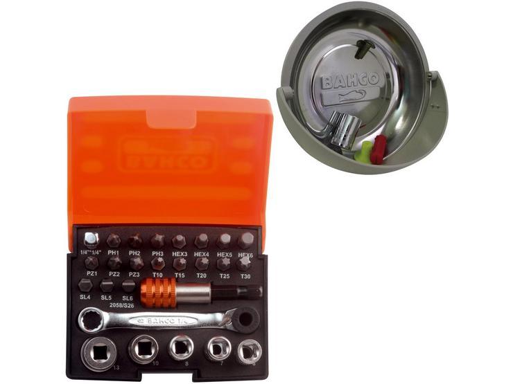 Bahco 26 Pc Ratchet Socket Set & Magnetic Tray