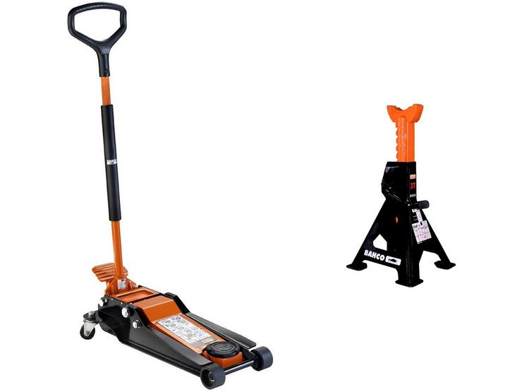 Bahco 3T Trolley Jack and Jack Stand Lifting Bundle