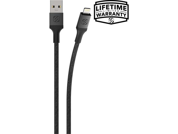 Scosche USB-A -Lightning Braided Cable - Spacegray 1.2m