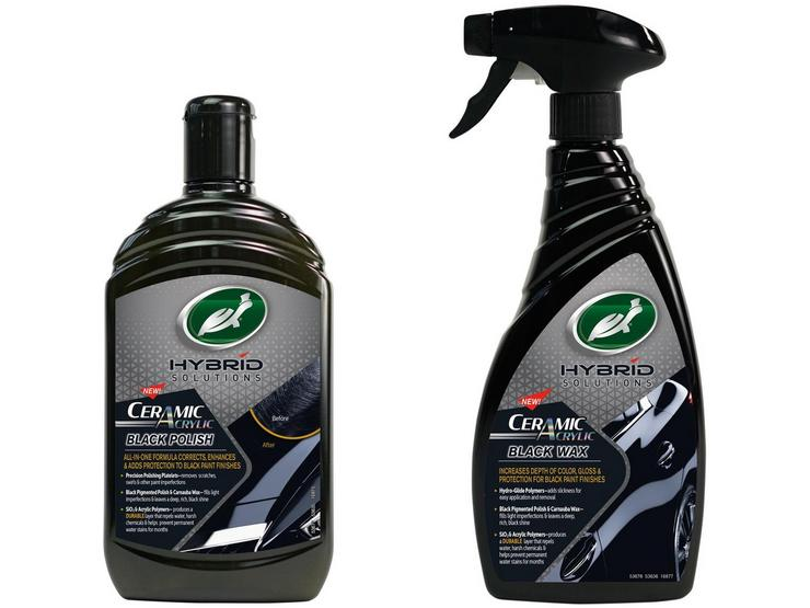 Turtle Wax Black Car Paint Protection Bundle