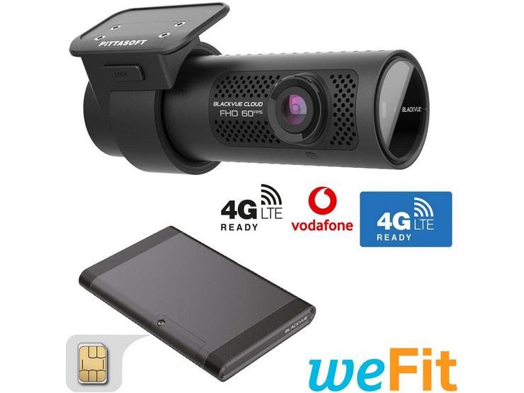 Blackvue DR750X-1CH Dash Cam, LTE Accessory & Fitting Bundle