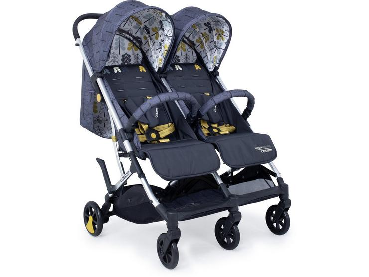 Cossato Woosh Double stroller - Fika Forest